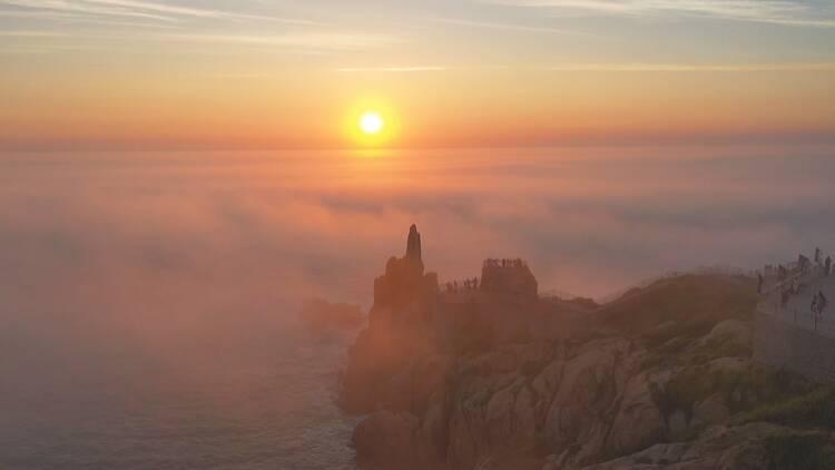 榮成成山頭:日出云海 甚為壯觀