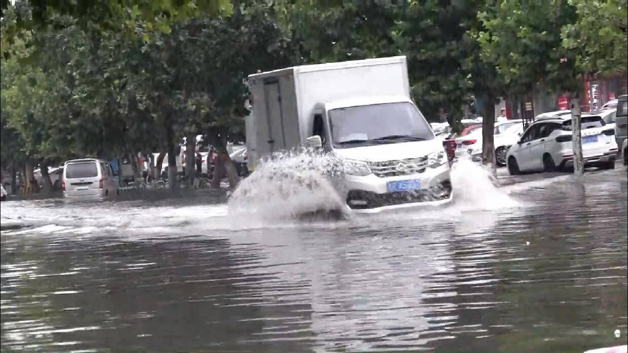"""菏泽近24小时平均降水88毫米 城区无大积水点出现整体情况平稳有序 迎战台风""""烟花"""""""