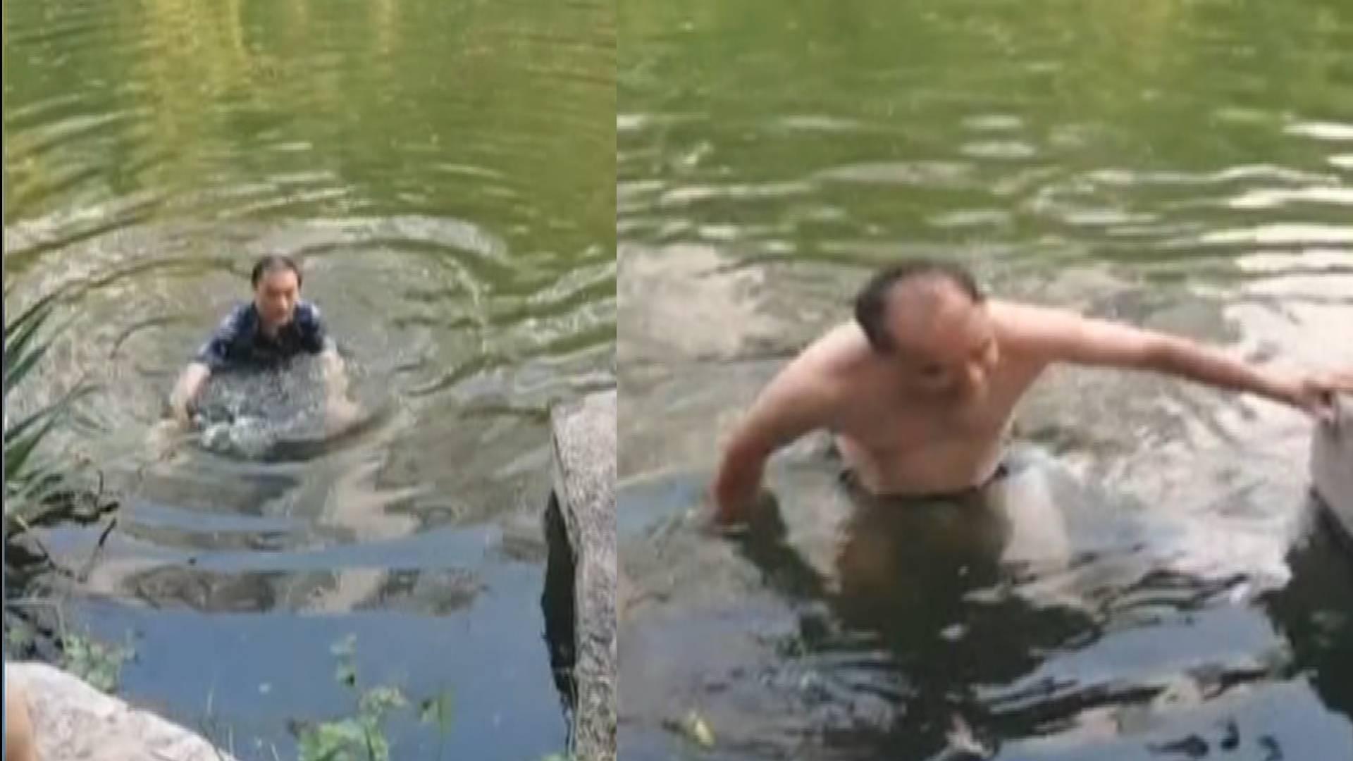 為英雄鼓掌!看到有人落水 滕州這三名市民義無反顧跳水救人