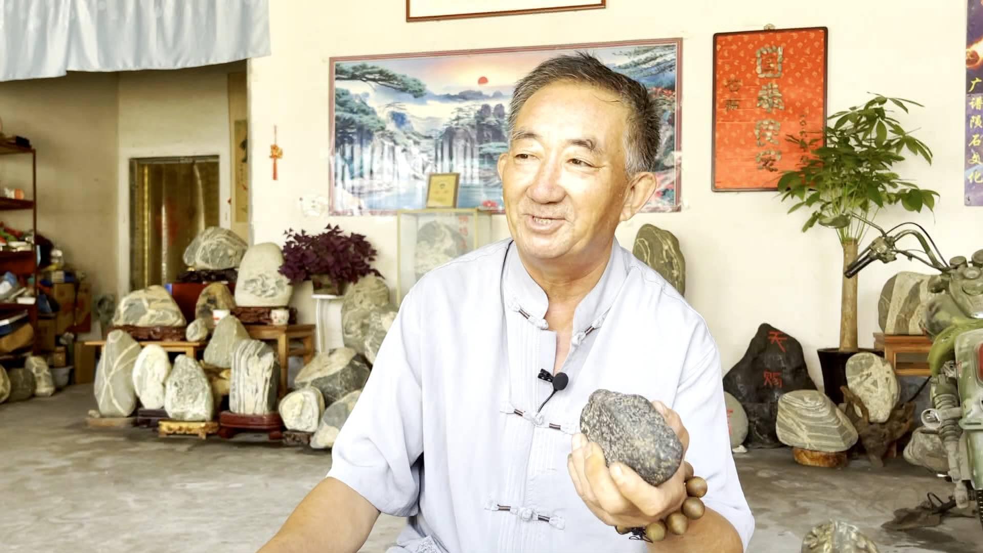 济南六旬老人痴迷陨石 38年收藏上千块