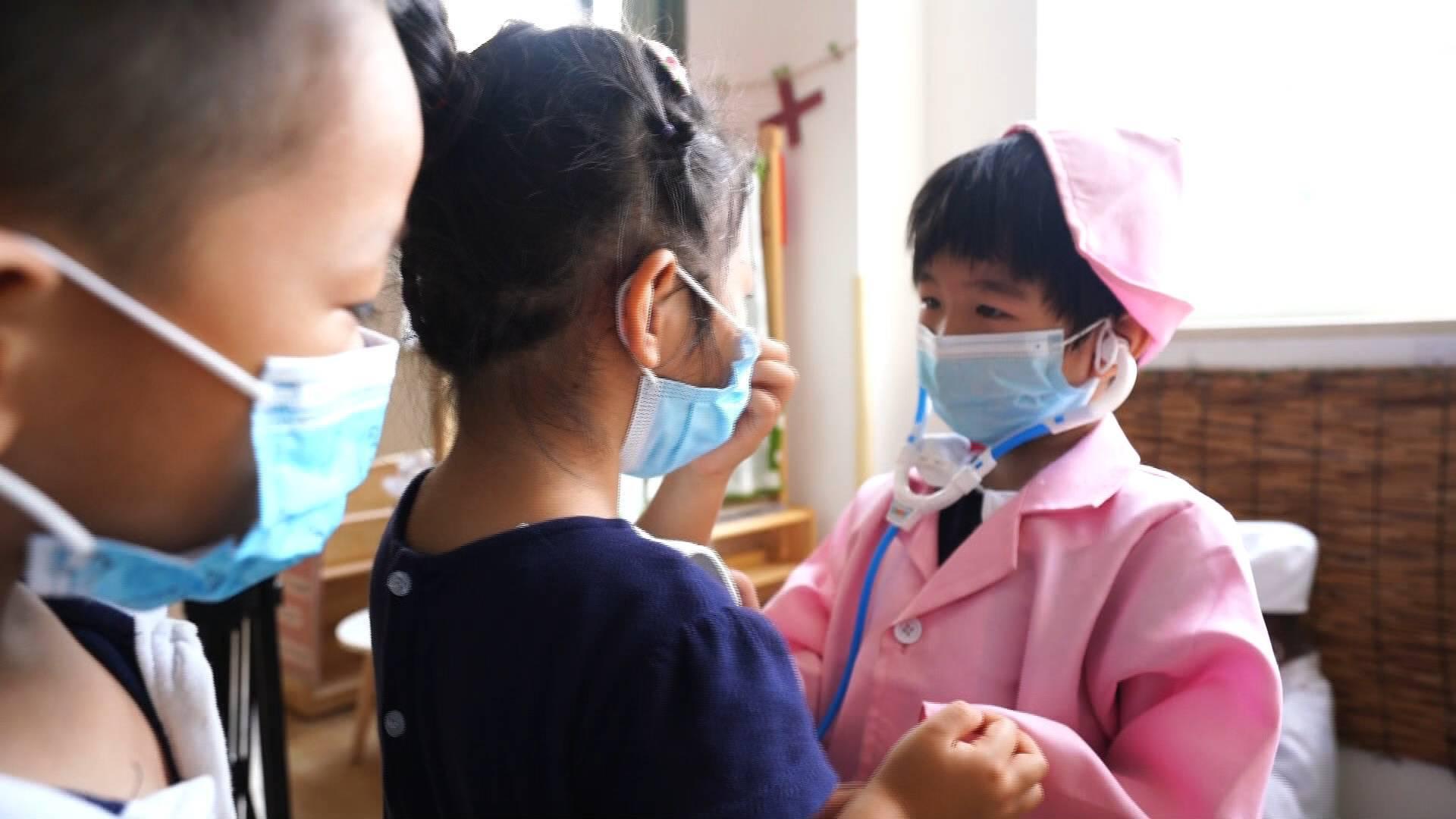 """唱防疫歌,做防疫游戏……青州这所幼儿园开展 """"花式""""护""""蕊"""" 科学防护更安心"""