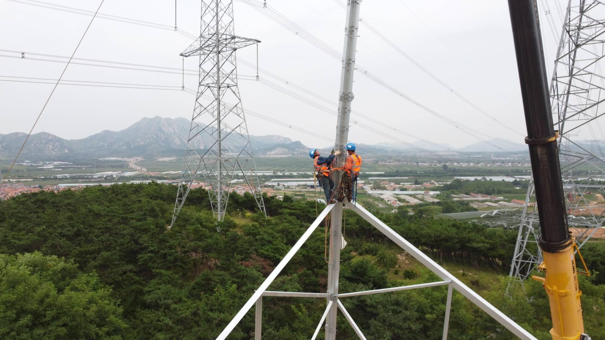 莱荣高铁首条、电压等级最高500kV核泽ⅠⅡ线正式停电迁改
