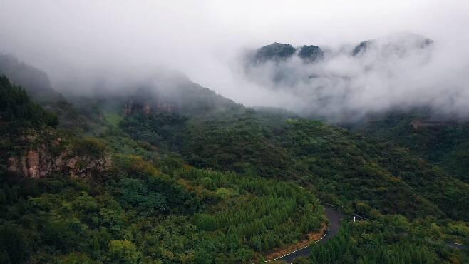 诗画山东丨美翻了!雨后的潭溪山云雾缭绕似仙境