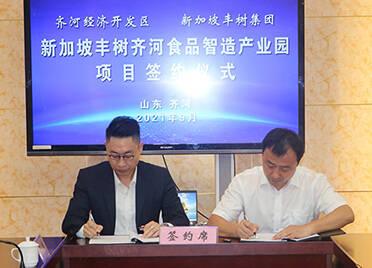 新加坡丰树齐河食品智造产业园项目签约 总投资约10亿元