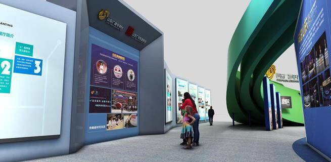 山东广电展台亮相第二届中国文旅博览会:造型惊艳 融入文旅元素