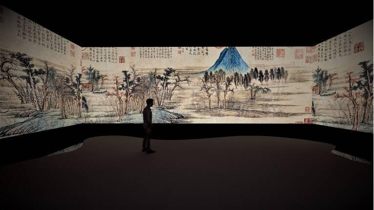 """中国画""""撞色""""科技感 来文旅博览会体验老济南"""
