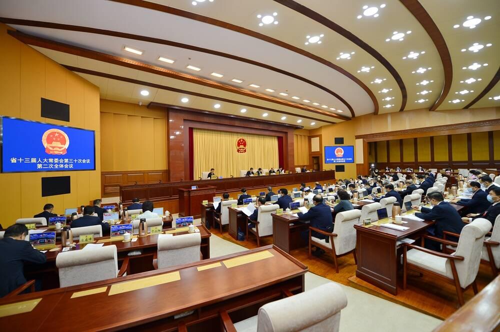 省十三届人大常委会第三十次会议举行第二次全体会议