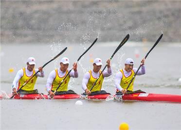 张冬为潍坊赢得第10金!十四运静水男子500米4人皮艇联合队夺冠