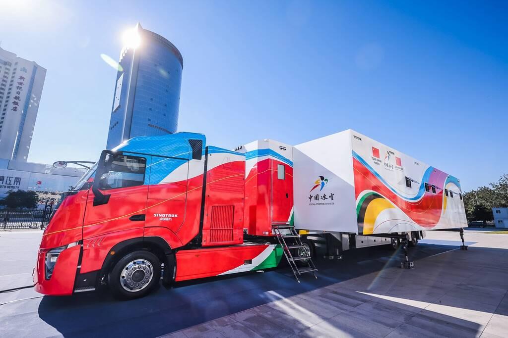 中国首创、世界先进、完全国产!2022年北京冬奥会雪蜡车在北京亮相