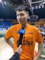 山东男篮小将陈培东  CBA全明星初体验就是享受篮球