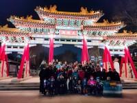 冬泳世界杯外籍选手夜游泉城 感受泉水文化