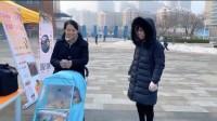 济南爱心志愿者帮助果农卖忠橙:希望他们早点卖完回家