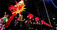 潍坊寒亭区:大红灯笼高高挂 万盏霓虹映衬年味浓