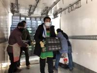 菜到了!运载350吨山东蔬菜的15辆车抵达武汉