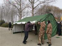 """一顶军用帐篷牵起军地""""战疫情"""":群众有需求 我们责无旁贷"""