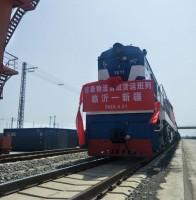 朱保-新疆货运班列首发 临沂物流业在多式联运上再进一步