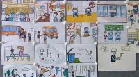 77秒丨别出心裁!金乡这所学校绘制漫画普及防疫知识