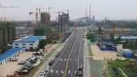52秒丨滨州博兴博城一路东延已具备通车条件 博城八路东延即将摊铺路面沥青