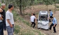 三个孩子车中玩闹,慌乱之下母亲把车开到树上