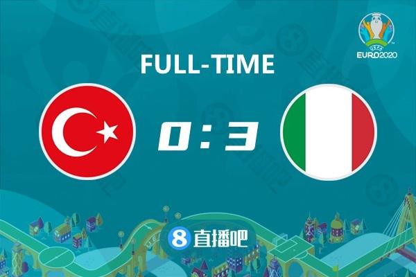欧洲杯-德米拉尔乌龙因莫比莱传射 意大利3-0土耳其迎开门红