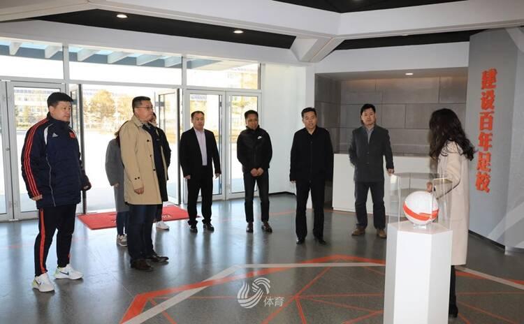 济南市体育局到鲁能足球(乒乓球)学校考察交流